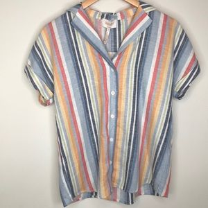 NWT colorful striped linen shirt